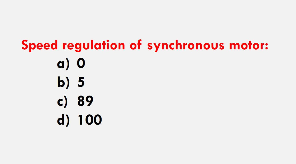 Synchronous Motor MCQs Part 1 with Explanatory Answer